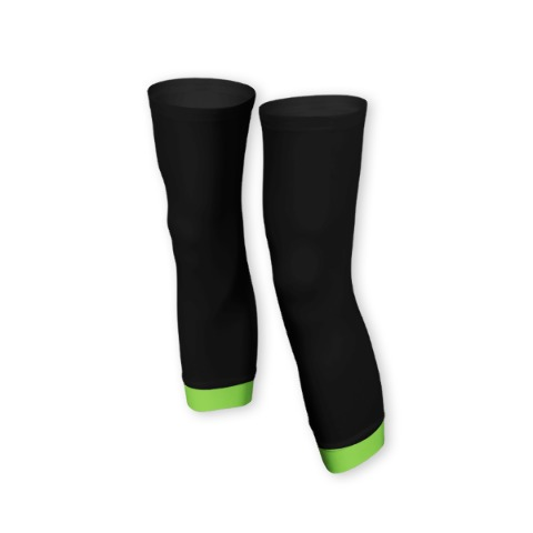 Knee warmers, sport, cycling, Green