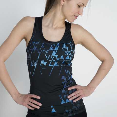 Sleeveless, Running, Shirt, , Blue