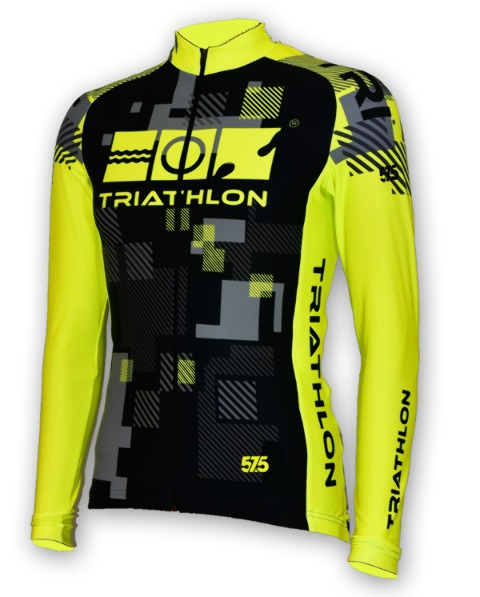 Long Sleeve, Cycling, Jersey, Fluo