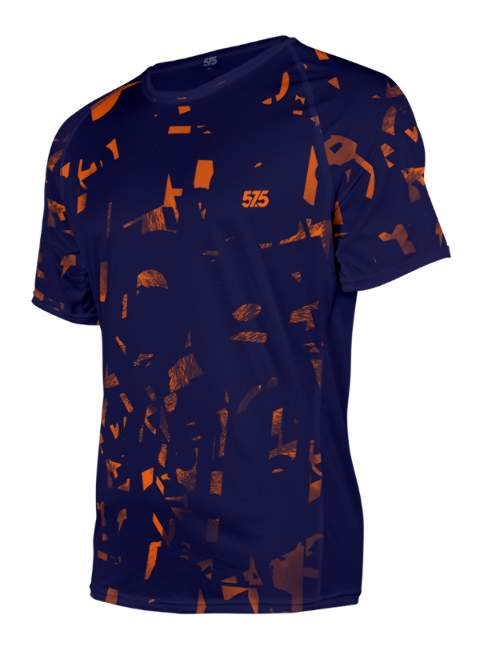 futó, futás, póló, t-shirt, Orange